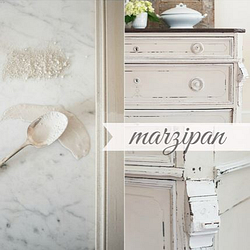 Miss Mustard Seed´s Milk Paint im Farbton Marzipan, eine Mandelton European Color Line.