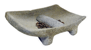 Aztec chocolate metate