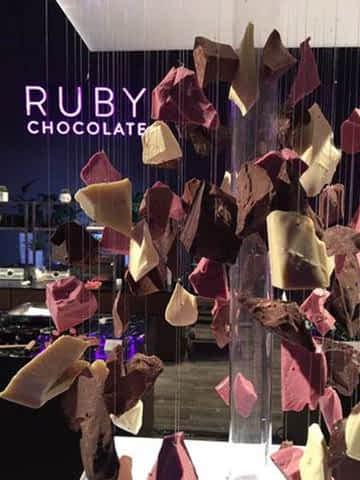 Ruby chocolate Shanghai opening.