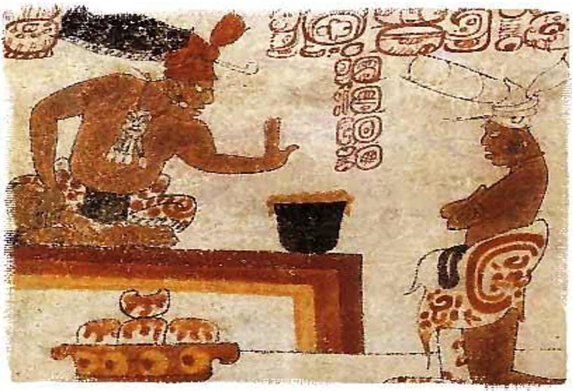 Ancient Maya lord of chocolate.