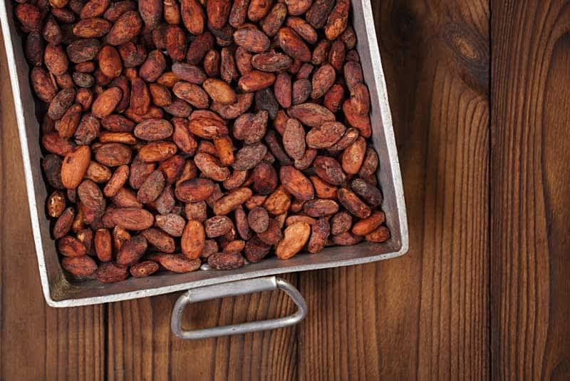 How to roast cocoa beans