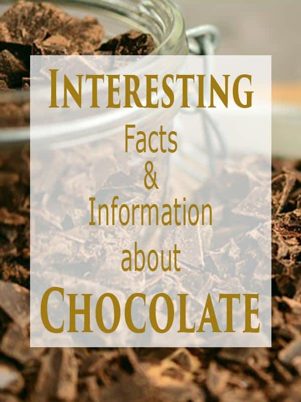 Interesting Facts and Information about Chocolate.